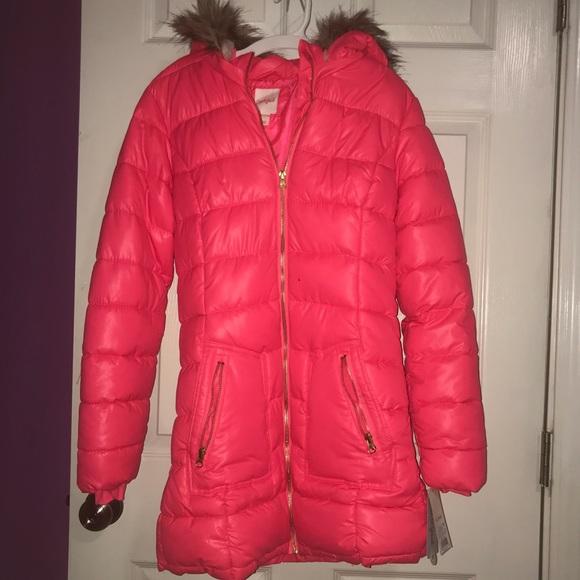 f1dd46d9f Cat & Jack Jackets & Coats | Girls Long Solid Puffer Jacket | Poshmark